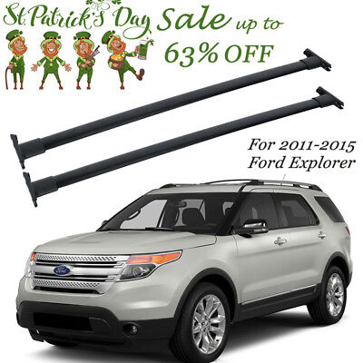 For 2011 2012 2013 2014 2015  Ford Explorer Top Roof Cross Rail Bars OE Style
