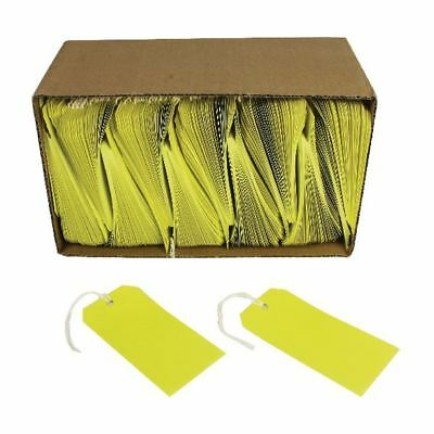 Yellow Strung Tags 120x60mm (Pack of 1000) KF01626 [KF01626]