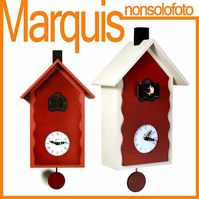 "Pendulum clock with cuckoo art.101 ""Lac"" Pirondini Italy Time Marquis"