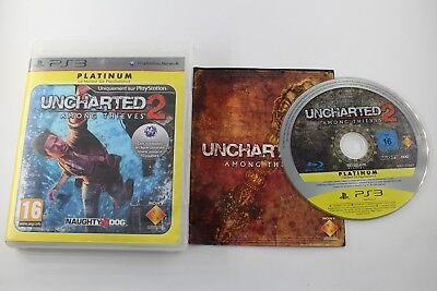 Play Station 3 Ps3 Uncharted 2 : Among Thieves Platinum Completo Pal Francia