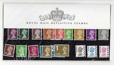 GB 2007 40th Anniversary Machin Definitives Presentation Pack No. 77 VGC stamps