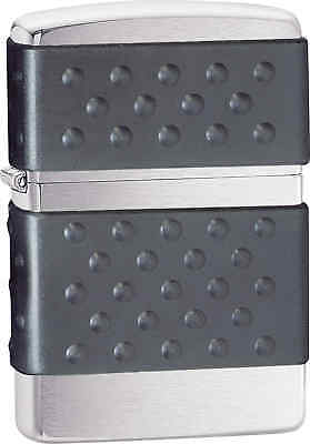 Zippo Classic Brush Zip Guard Brushed Chrome Windproof Lighter 200ZP
