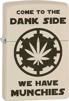 Zippo Clssic Come To The Dank Side Cream Matte Windproof Lighter 29590