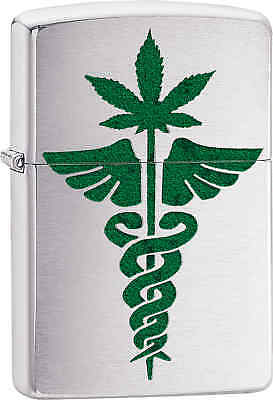 Zippo Classic Medical Design Brushed Chrome Windproof Lighter Z627