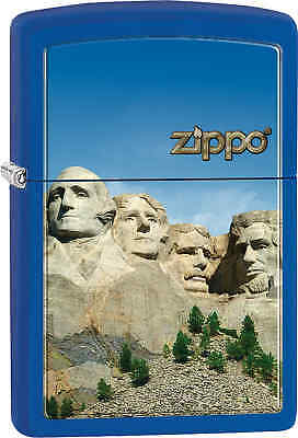 Zippo Classic Mount Rushmore Royal Blue Matte Windproof Lighter Z537