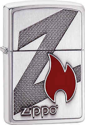 Zippo Classic Z Logo Brushed Chrome Windproof Lighter 29104