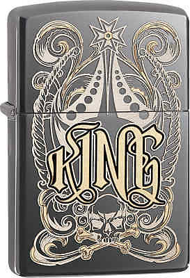 Zippo Classic King Black Ice Windproof Lighter 28798