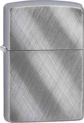 Zippo Classic Diagonal Weave Brushed Chrome Windproof Lighter 28182