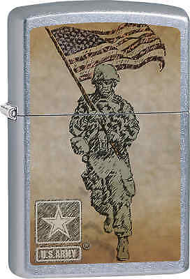 Zippo Classic Army Soldier Street Chrome Windproof Lighter Z615