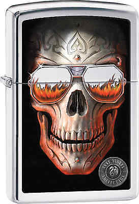 Zippo Classic Anne Stokes Skull High Polish Chrome Windproof Lighter 29108