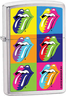 Zippo Classic Rolling Stones Brushed Chrome Windproof Lighter Z224