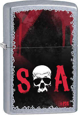 Zippo Classic Sons Of Anarchy Street Chrome Windproof Lighter 28836