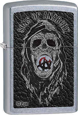 Zippo Classic Sons of Anarchy Skull Street Chrome Windproof Lighter Z612