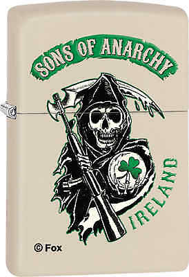 Zippo Classic Sons Of Anarchy Cream Matte Windproof Lighter Z374