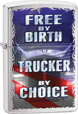 Zippo Classic Trucker By Choice Brushed Chrome Windproof Lighter 29078