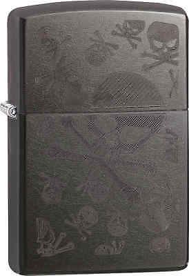 Zippo Classic Skulls And Crossbones Gray Dusk Windproof Lighter 28685