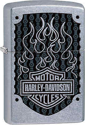 Zippo Classic Harley Davidson Logo Street Chrome Windproof Lighter 29157