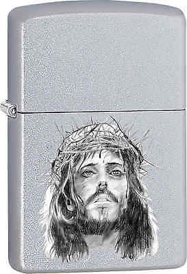 Zippo Classic Jesus Christ  Satin Chrome Windproof Lighter Z574