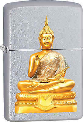 Zippo Classic Buddha Satin Chrome Windproof Lighter Z572