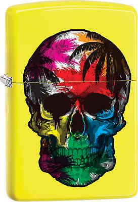 Zippo Classic Colorful Skull  Neon Yellow Windproof Lighter Z567