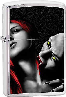 Zippo Classic Vampire Brushed Chrome Windproof Lighter Z497