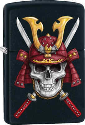 Zippo Classic Skull & Swords Black Matte Windproof Lighter Z289