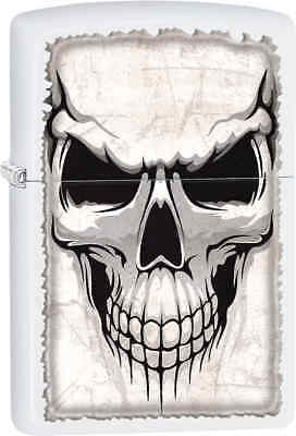 Zippo Classic Skull White Matte Windproof Lighter Z164