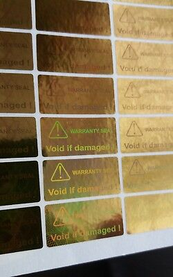 78x WARRANTY SEAL , VOID,  TAMPER EVIDENT HOLOGRAPHIC stickers, 23mm X 11mm