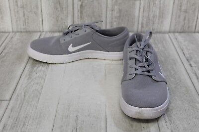 detailed look 3a5c1 af51c Nike SB Portmore Ultralight Athletic Sneakers - Men s Size 9, Wolf Grey  White