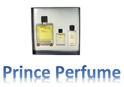 TERRE D'HERMES EDT SPRAY 100 ml + EDT SPRAY 5 ml + AFTER SHAVE LOTION 40 ml