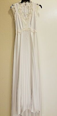 Vintage  Polyester Wedding Dress/Bridal Gown