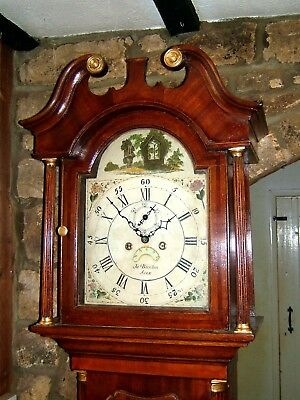 Georgian Oak & Mahogany Grandfather Longcase Clock C1810