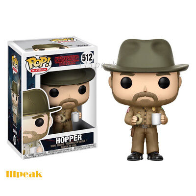 Stranger Things Hopper Chase with Donut Hat #512 Funko Pop Television Vinyl Toy