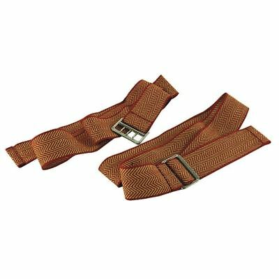 Document Strap With 3-Pronged Buckle 900mm Red and Gold (Pack of 6) [WV00087]