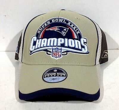 8e6bbc6fbb5 Rare Super Bowl XXXIX 39 New England Patriots Champions Locker Room Hat  Reebok