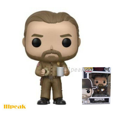 Stranger Things Hopper Chase with Donut #512 Funko Pop Television without Hat