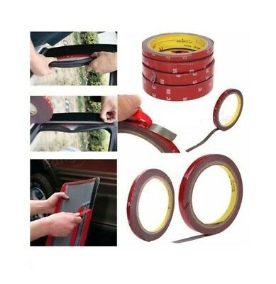 3M x 6 8 10 12 15 20 Double Sided Car/Vehicle Adhesive Acrylic Foam Tape-GN