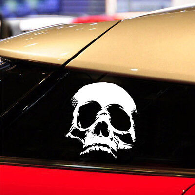 Terrible Evil Skull Face Car Stickers Funny Car Motorcycle PET Decal Removable