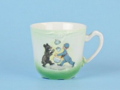 ANTIQUE Buddy Teddy Bear CHILD'S CUP Outcault Porcelain GERMANY