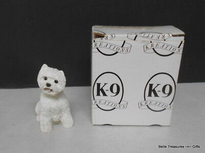 K9 Kreations Puppy Dog Figurines West Highland Terrier Resin Statue