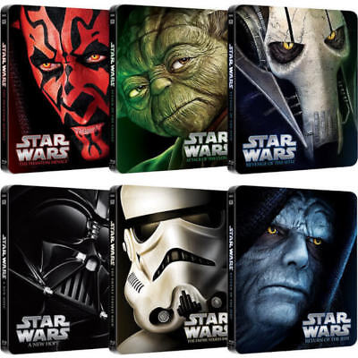 Star wars saga in blu-ray steelbook nuovi
