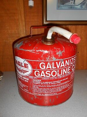 Vintage Eagle Galvanized Gasoline Can 5 Gallon