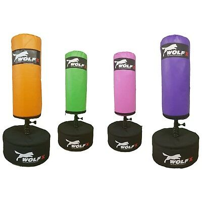 Kids Free Standing Bag 3Ft Punching Bag Boxing Heavy Duty MMA Free Kicking Stand