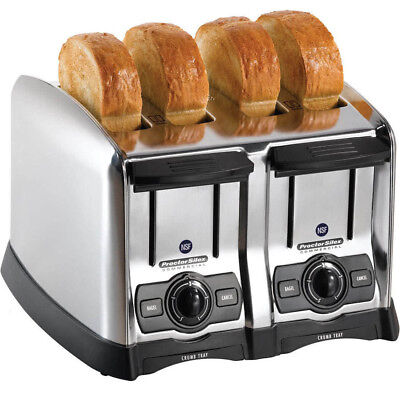 "Proctor Silex Commercial 4 Slice Restaurant Electric 1 1/2"" Extra Wide Toaster"