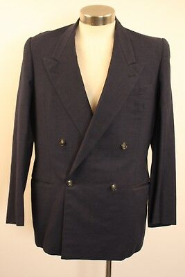 """LARGE  ORIGINAL VINTAGE 1940s MENS DOUBLE BREASTED JACKET. """" R ZAPPIA ADELAIDE """""""