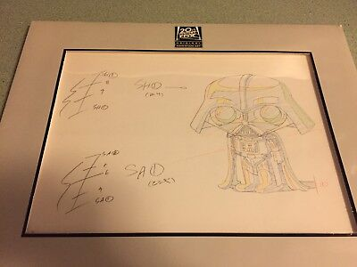Family Guy Star Wars Original Production Animation Art W/coa Stewie Darth Vader