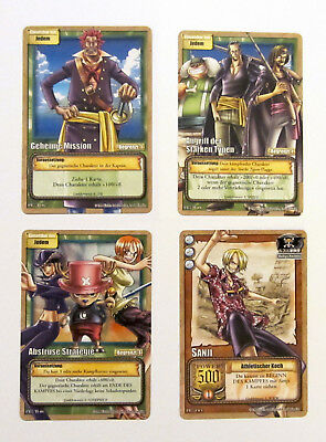 4 seltene One Piece Preisbooster Karten - aus One Piece TCG - Deutsch