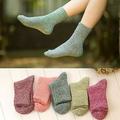 1 Pair Thick Wool Warm Cotton Style Women Vintage 5 Colors Winter Socks
