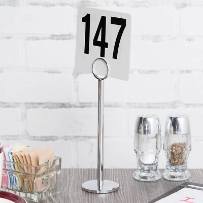 """12 PACK 8"""" Stainless Steel Silver Menu Number Place Card Holder Restaurant Table"""