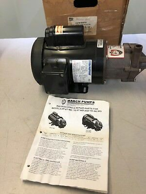 New!! March TE-6T-MD Magnetic Drive Polypropylene/Ryton 3/4HP 115/230v 1Ph motor